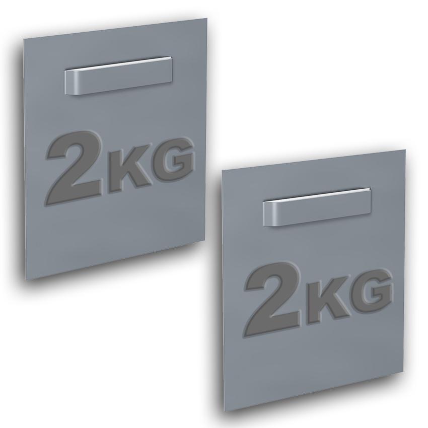 Schachtel mit 2 Klebebefestigungen für Dibond und Spiegel 70 x 70 mm : max. 2 kg