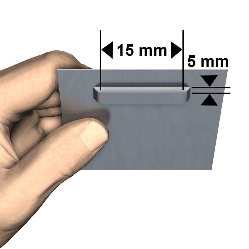 Dibond attachment 45 x 45 mm: max 1 kg