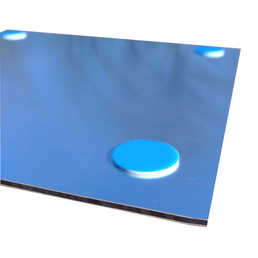 Pictogramme panneau signalétique WC format 20 cm x 20 cm en Dibond Aluminium brossé - Modèle toilettes TRIO