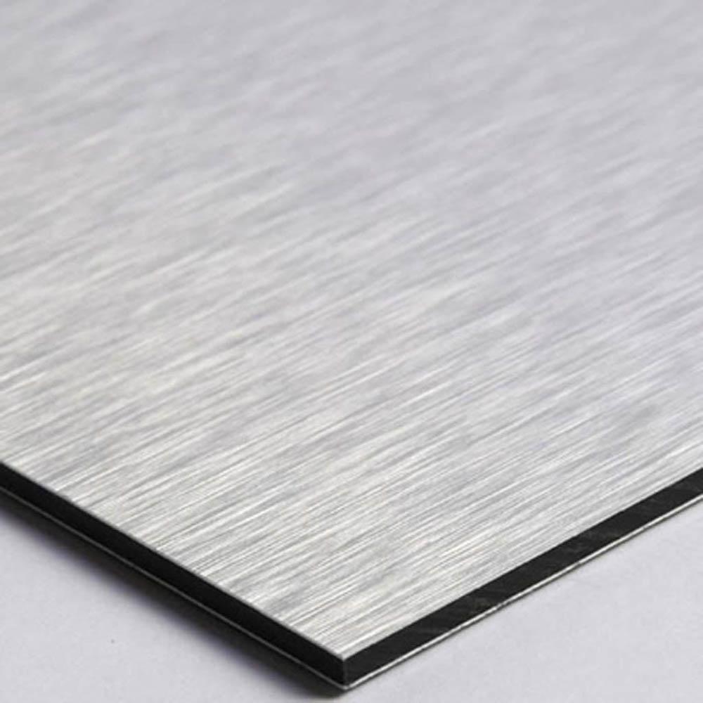 Panneau signalétique personnalisable avec votre texte 1 ou 2 lignes - Format 20 cm x 20 cm en Dibond Aluminium brossé