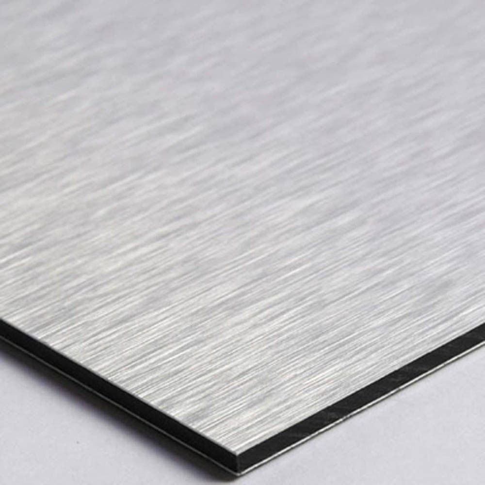 Pictogramme panneau directionnel format 20 cm x 20 cm en Dibond Aluminium brossé - Sens de visite flèche modèle Dot