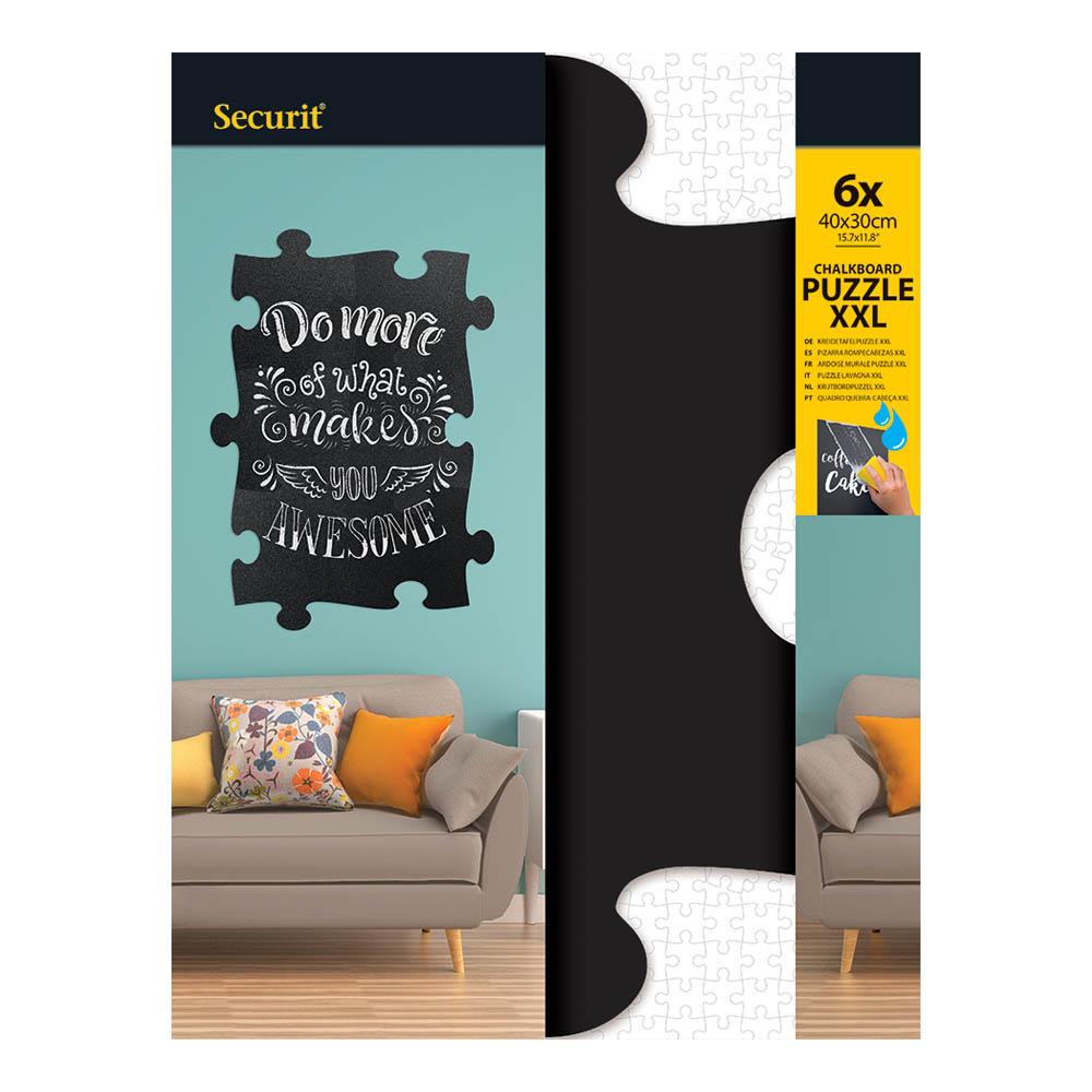 6 panneaux ardoise noire XXL pour décoration murale