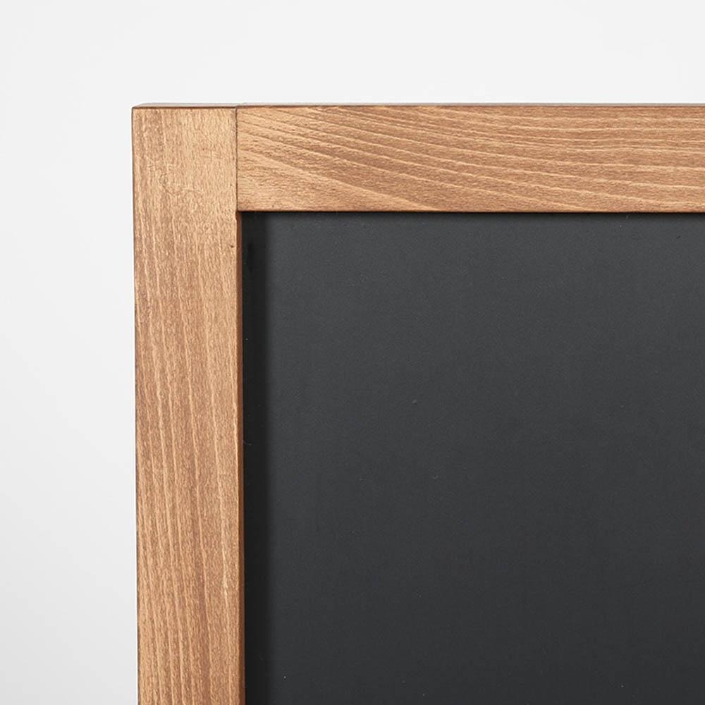 Ardoise magnétique stop trottoir en bois modèle Wood WindPro (46 x 68 mm)
