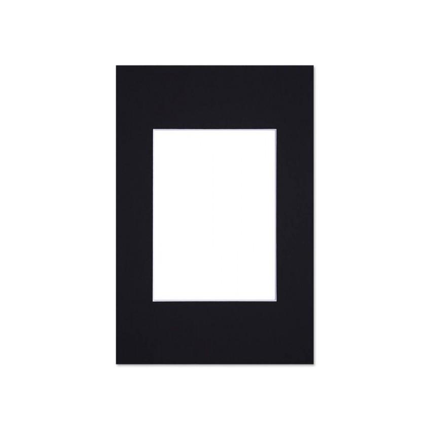 Lot de 10 passe-partouts standard noirs pour cadre et encadrement photo - Nielsen - Cadre 18 x 24 cm - Ouverture 10 x 15 cm