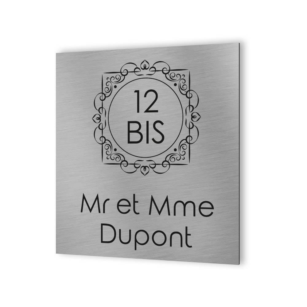 Numéro de rue extérieur à personnaliser - Panneau Dibond Aluminium - Numéro maison modèle Oriental