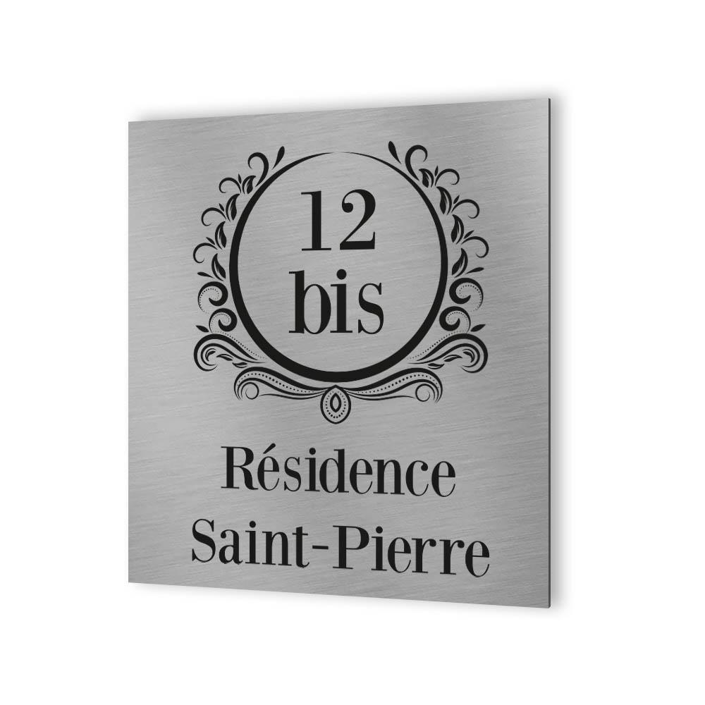 Numéro de rue extérieur à personnaliser - Panneau Dibond Aluminium - Numéro maison modèle Luxury