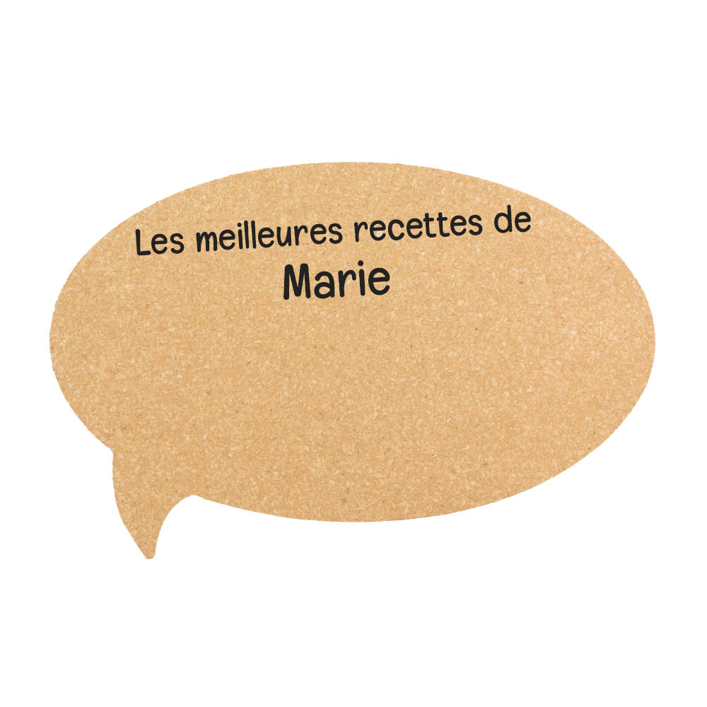 Panneau mural memo board en liège personnalisable pour décoration chambre salon cuisine - Modèle Bulle