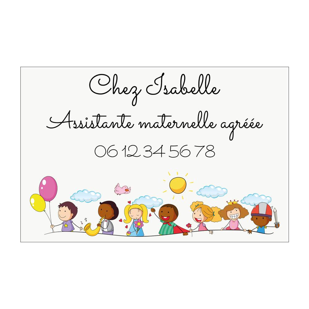 Plaque Assistante maternelle agréée personnalisée - Plaque rue Nounou pour boite aux lettres format 12 x 8 cm - Modèle Tribu