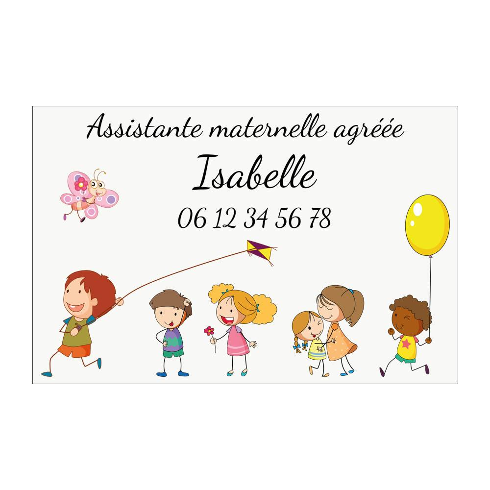 Plaque Nourrice à personnaliser pour boite aux lettres - Plaque maison assistante maternelle personnalisable - Modèle Enfants