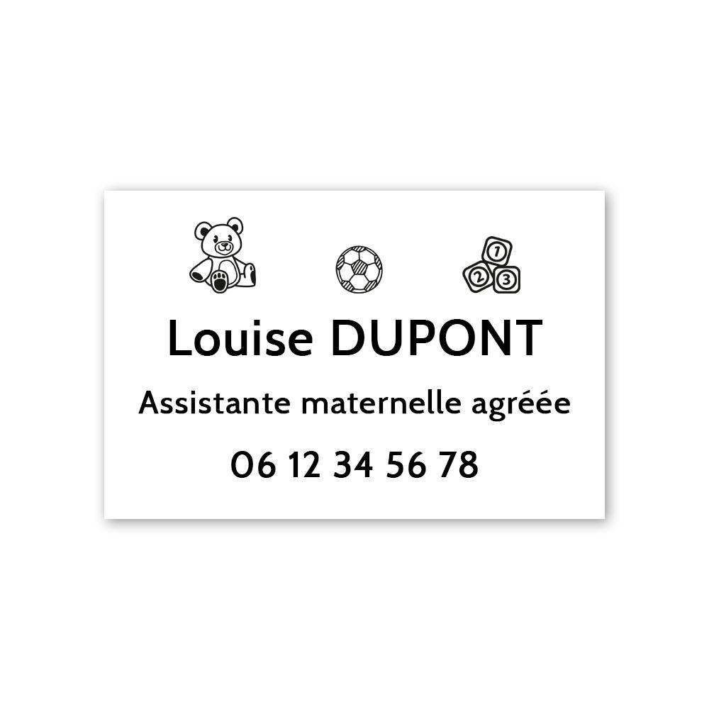 Plaque professionnelle personnalisable Assistante maternelle agréée - Pancarte Nounou personnalisée format 30 x 20 cm