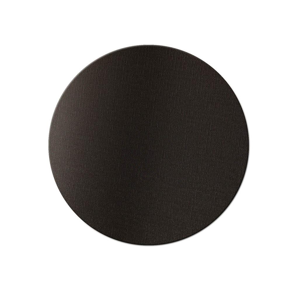 10 dessous de verre PVC Noir bi-couleur aspect jute