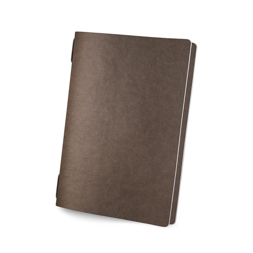 Protège menu GOLFO Ecologique marron aspect fibre lisse