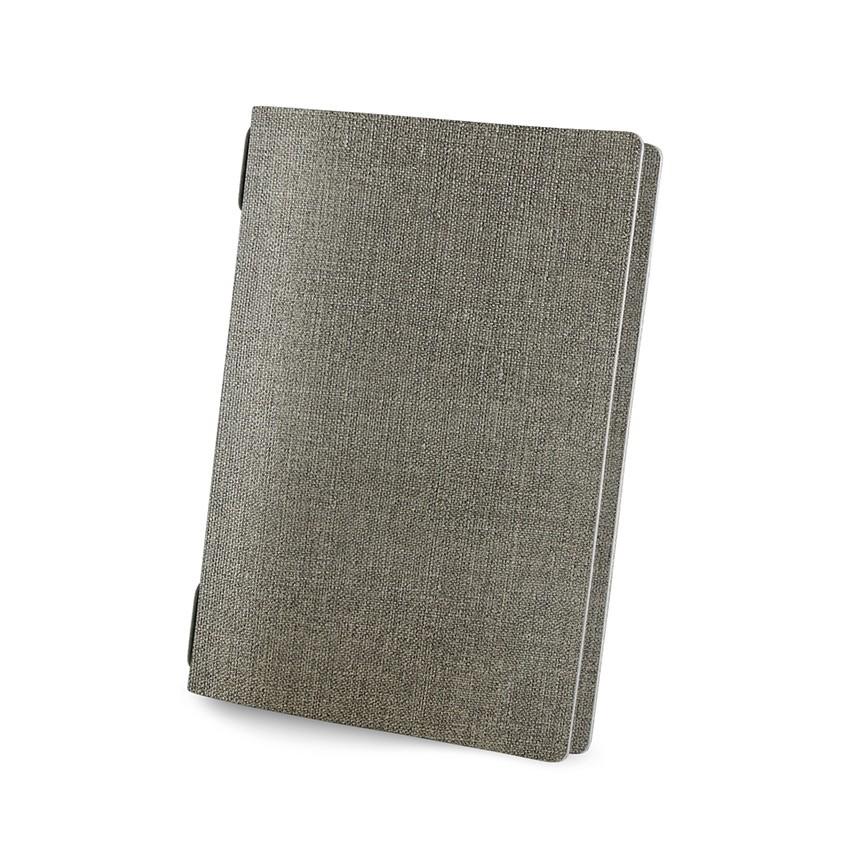 Protège menu GOLFO MenuMenu gris aspect jute