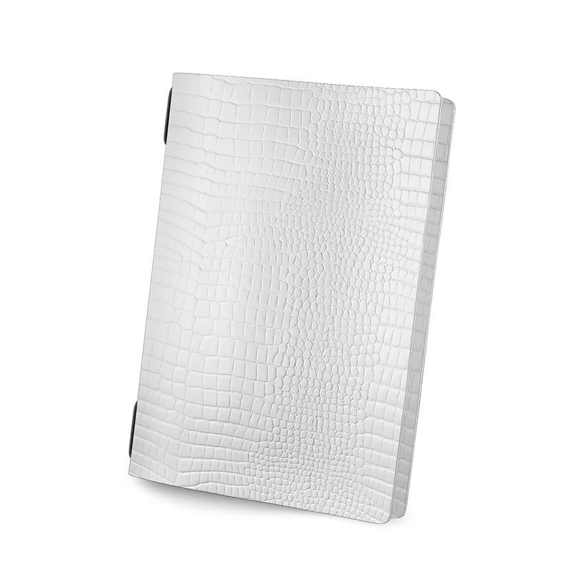 Protège menu GOLFO Fashion blanc aspect crocodile