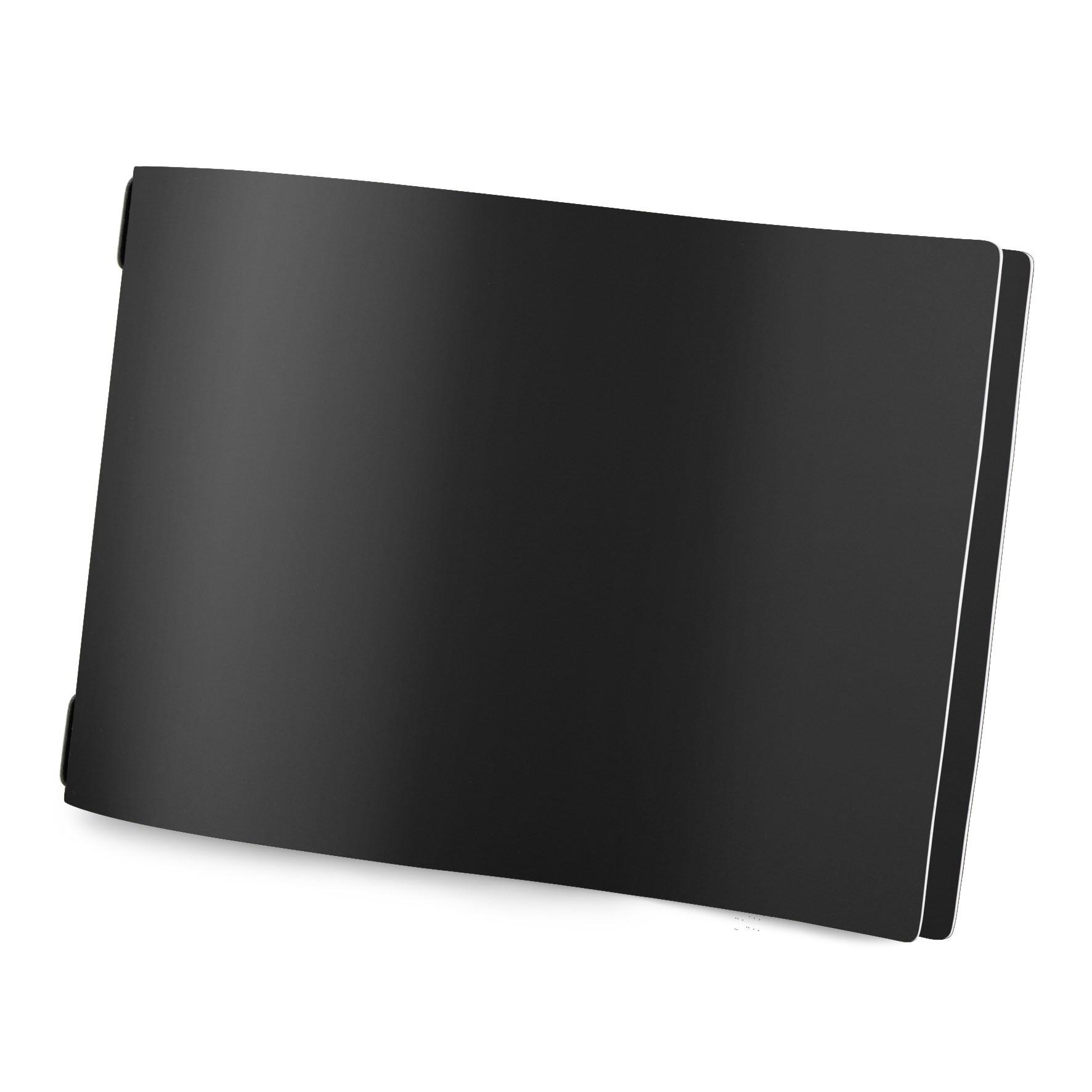 Protège menu format A4 modèle HORIZONTAL couleur noir aspect lisse - 2 inserts inclus