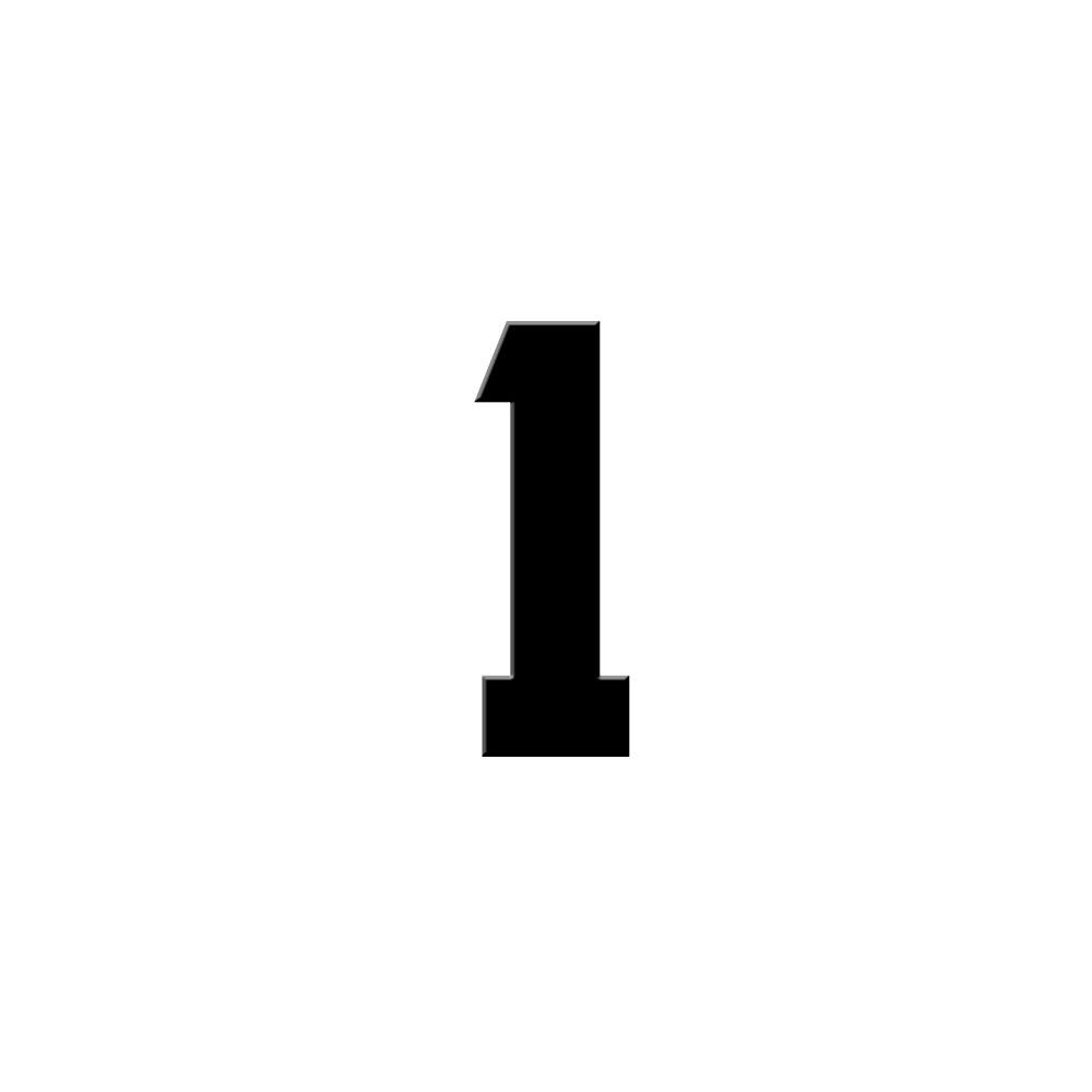 Chiffre adhésif numéro de rue pour boite aux lettres - Hauteur 5 cm - Modèle CAPTAIN