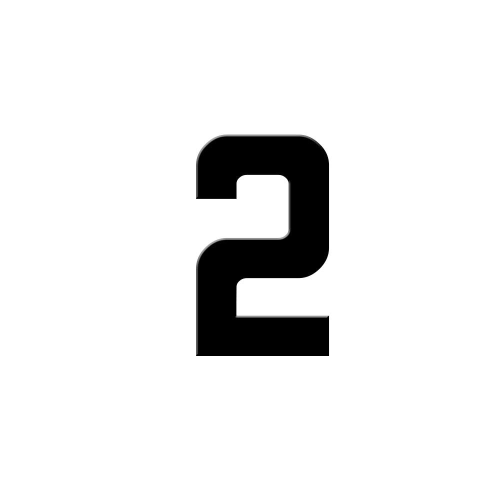 Chiffre adhésif numéro de rue pour boite aux lettres - Hauteur 5 cm - Modèle GRATIS