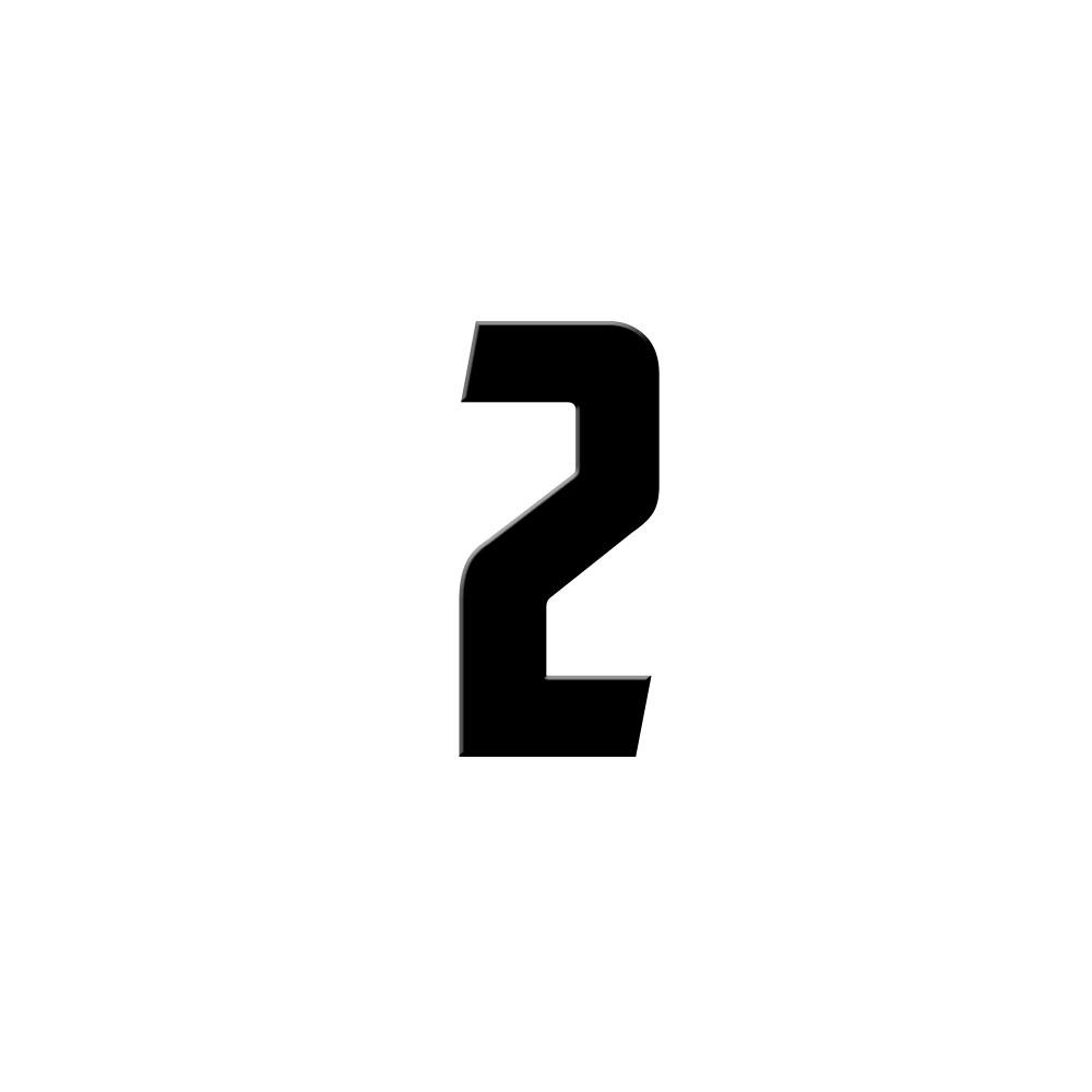 Chiffre adhésif numéro de rue pour boite aux lettres - Hauteur 7 cm - Modèle CAPTAIN