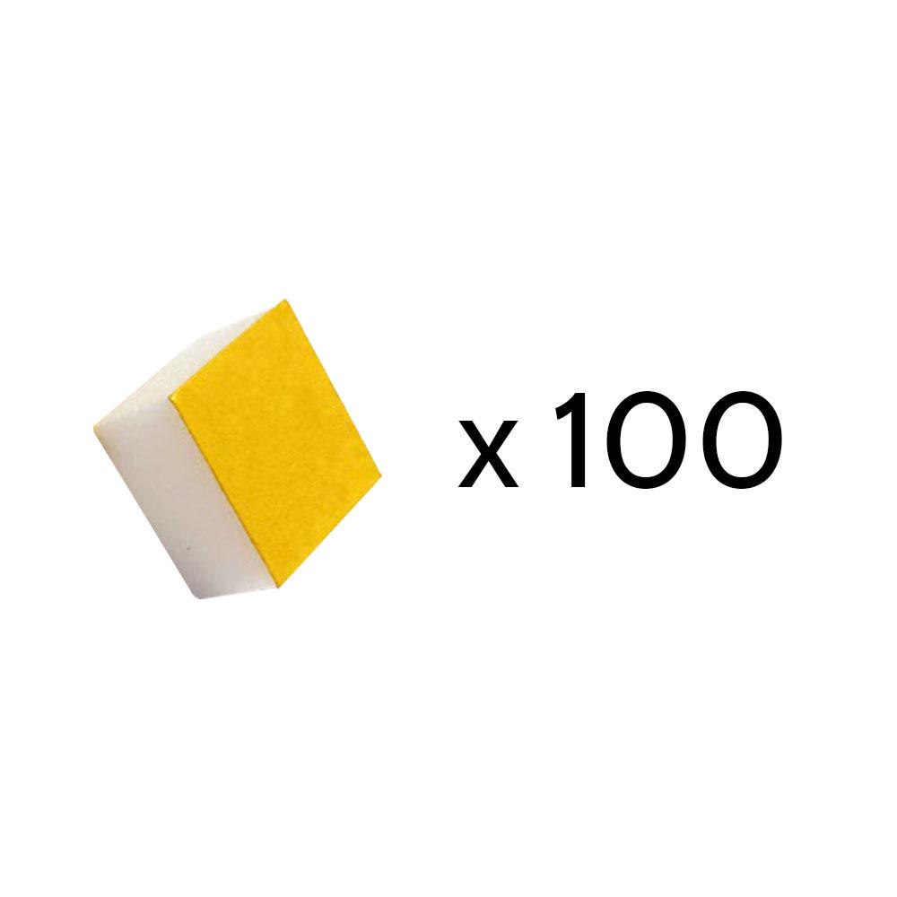 Sachet 100 stabilisateurs pour tableau - Stabilisateurs en mousse blanche