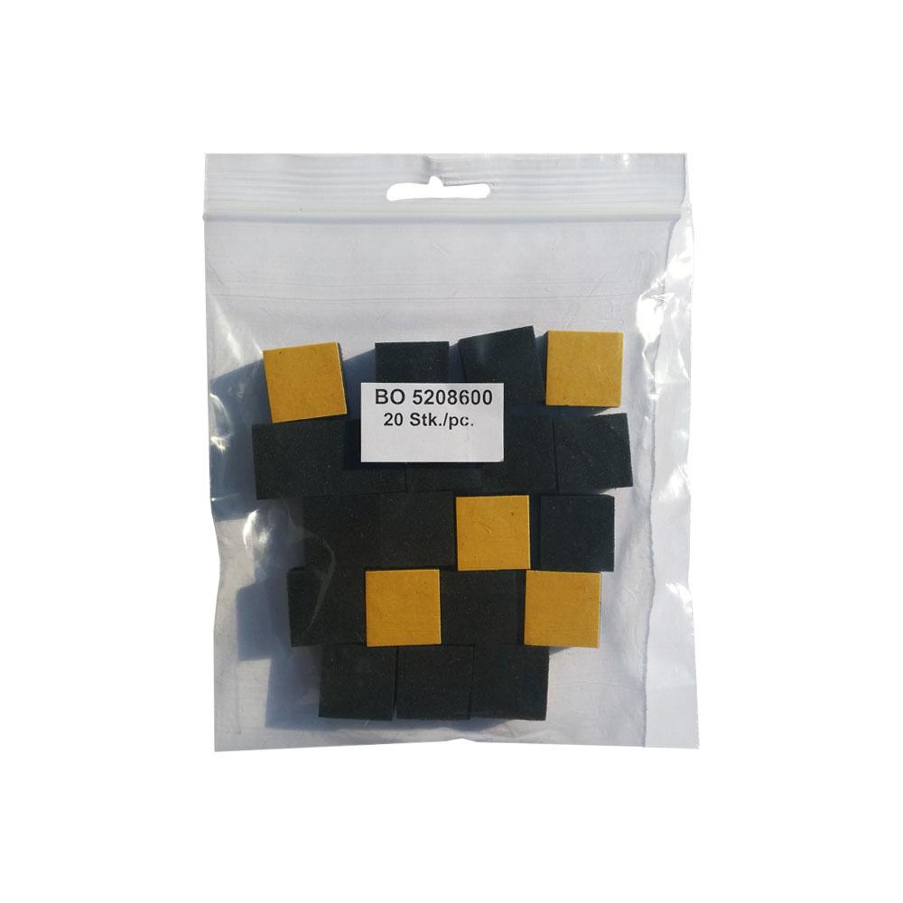 Sachet 20 stabilisateurs pour cadre tableau Dibond - Ecarteurs muraux en mousse noirs