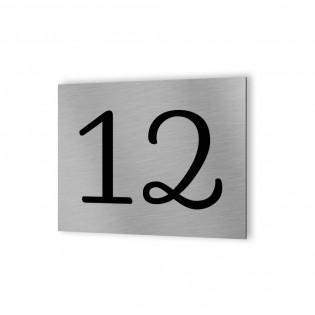 Numéro de rue personnalisé / Numéro de maison personnalisable - Plaque Aluminium Dibond adhésif 3M - Signalétique maison extérie
