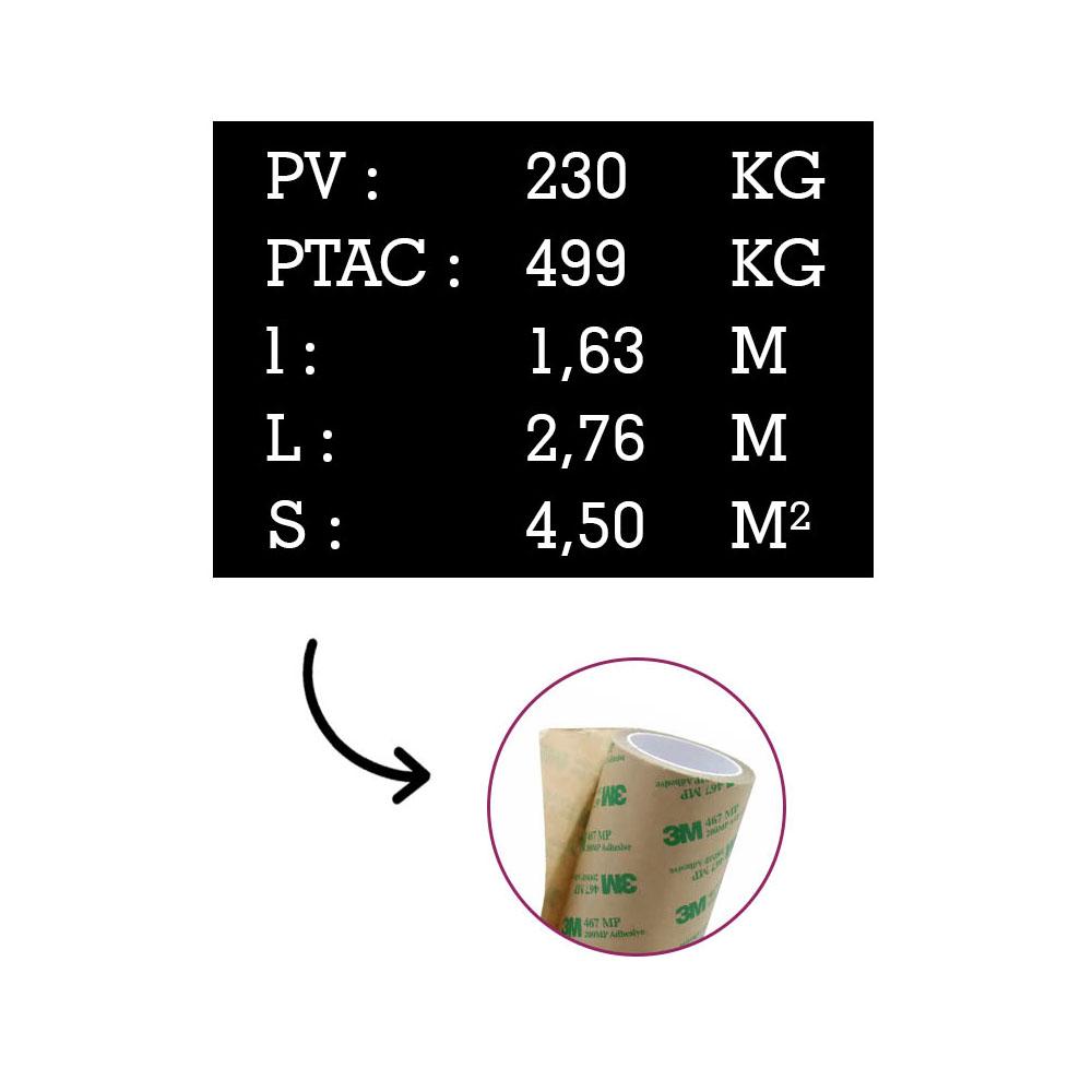 Plaque de tare pour remorque - Marquage gravure laser - Identification véhicule