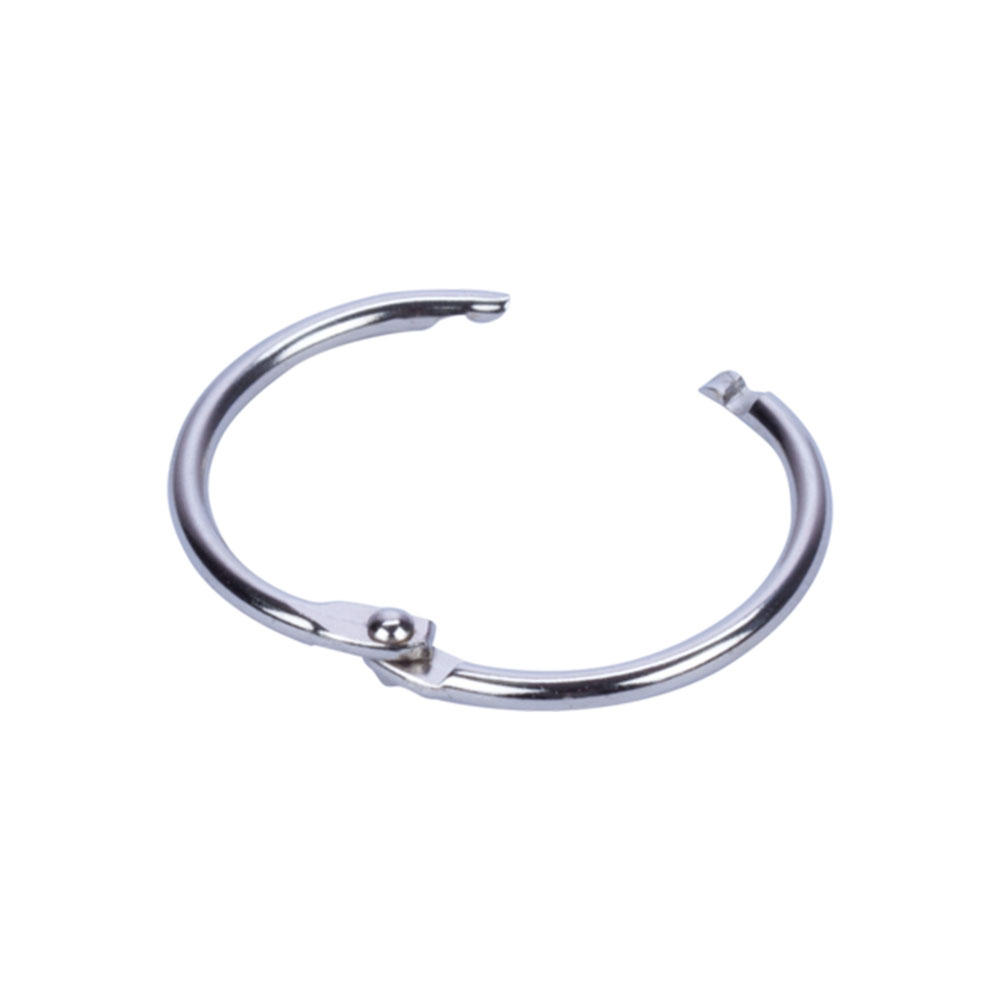 Lot de 10 anneaux brisés en métal - Diamètre 38 mm - Suspension signalétique