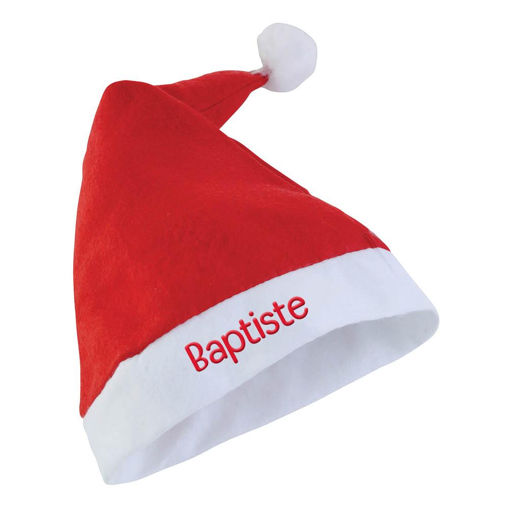 Bonnet Noël chapeau Père Noël adulte personnalisable avec un prénom - Cadeau Noël original