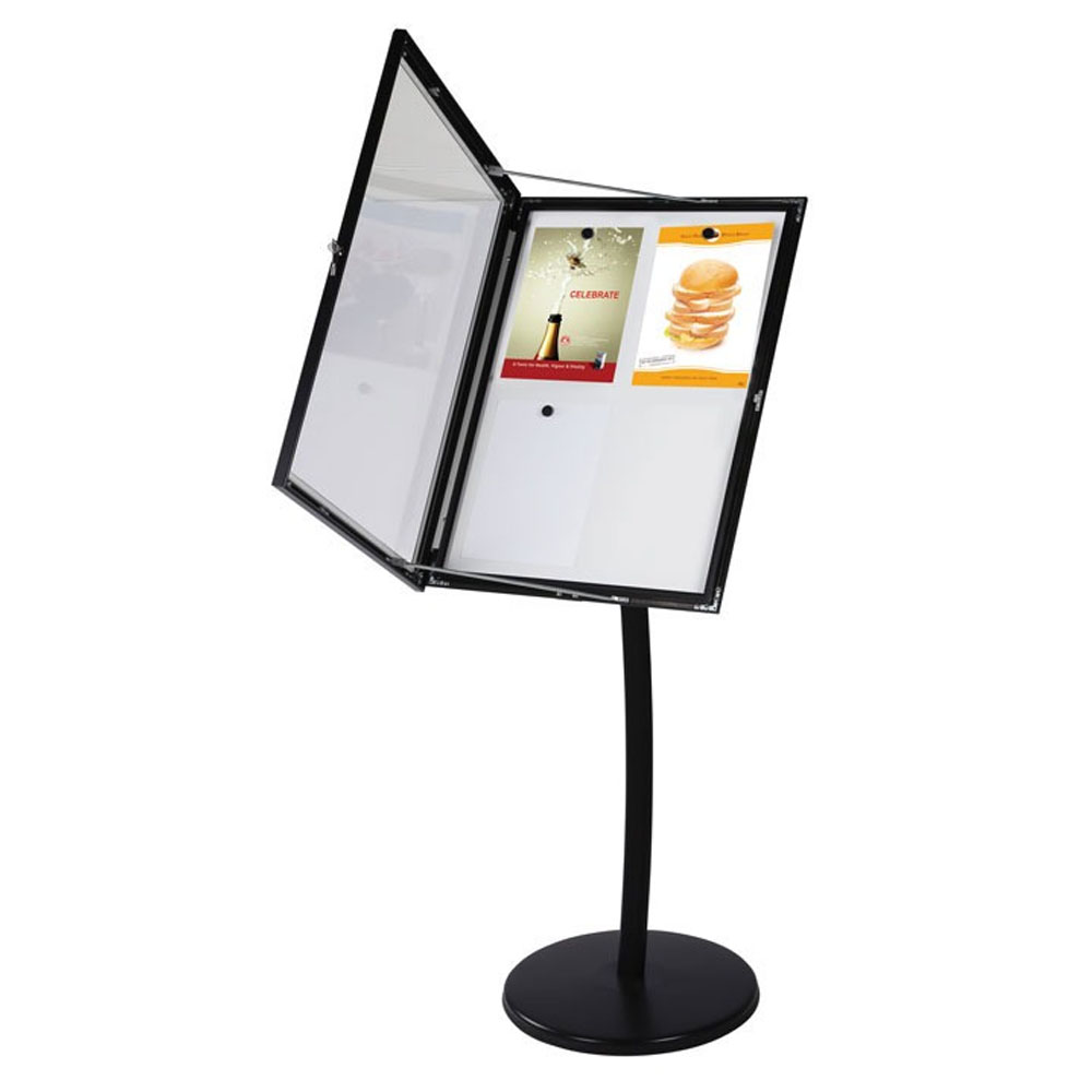 Porte menu 4 x A4 magnétique couleur noir - Présentation menu hôtel restaurant