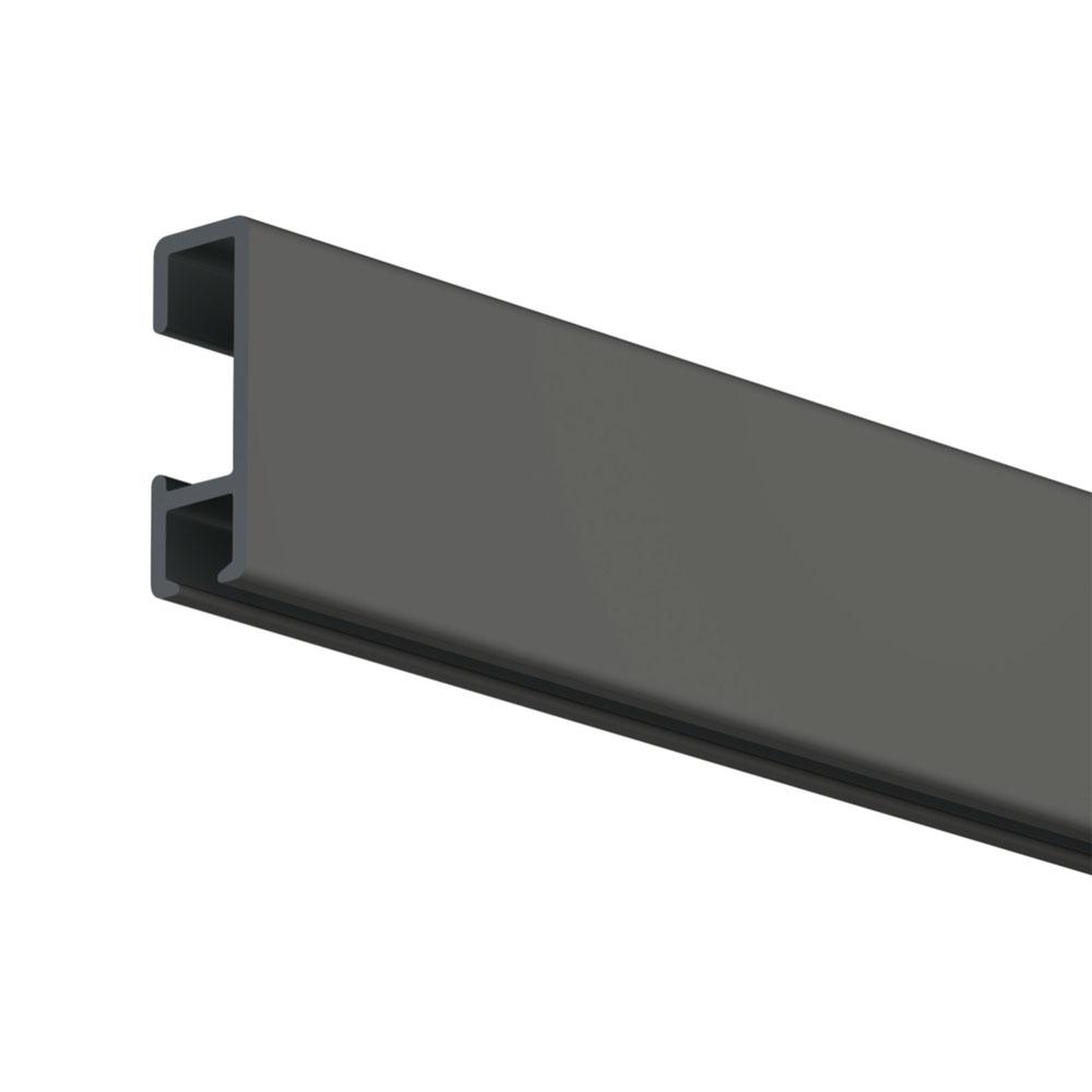 Pack Eco 1 mètre de cimaise Click Rail couleur Noir - Solution suspension cadres et tableaux