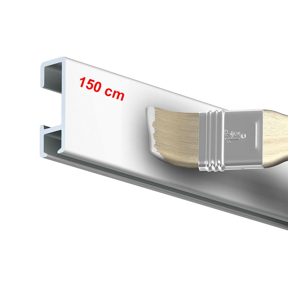 Cimaise rail à clipser modèle Click Rail couleur Blanc (peut être peint) - Longueur 150 cm