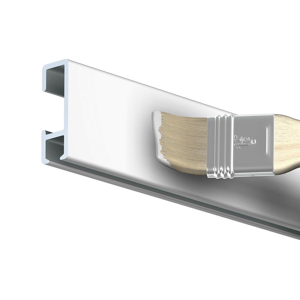 Cimaise rail à clipser mural modèle Click Rail couleur Blanc (peut être peint) - Longueur 150 cm