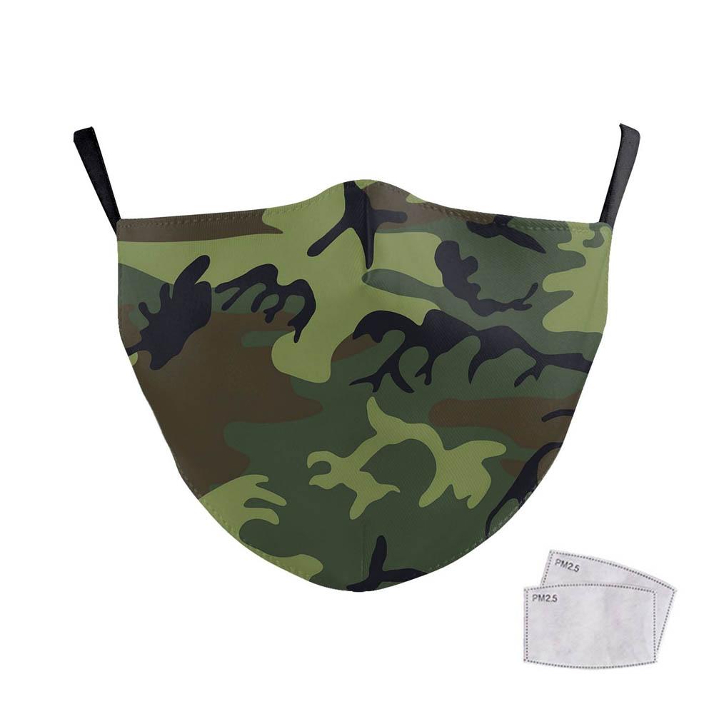 Masque de protection costume Halloween cosplay pour adulte - Modèle Camouflage kaki