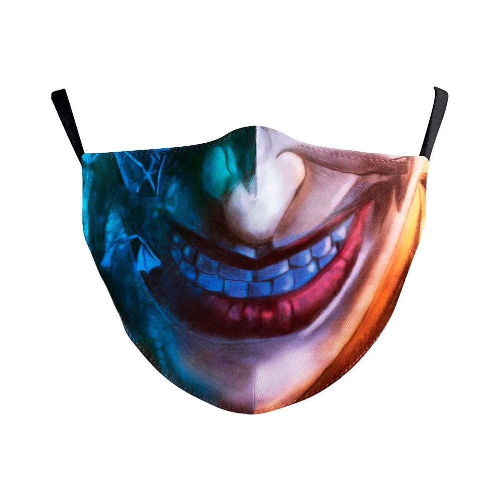 Masque de protection lavable costume Halloween soirée déguisée cosplay Adulte - Modèle Le Joker Batman 2