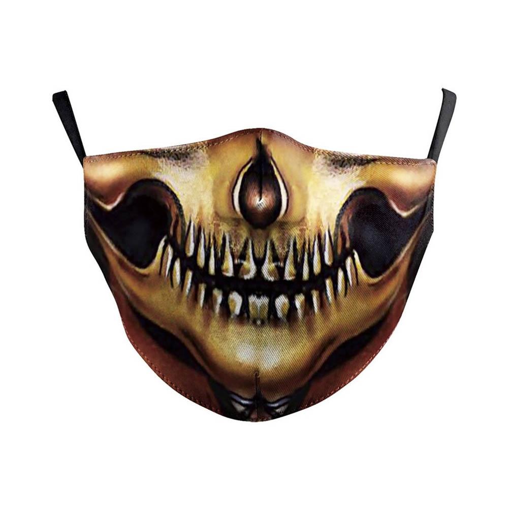 Masque de protection lavable costume Halloween soirée déguisée cosplay Adulte - Modèle Squelette 2