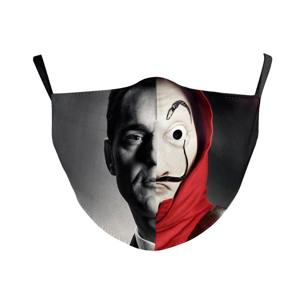 Masque de protection costume Halloween soirée déguisée cosplay Adulte - Modèle Casa de Papel Berlin