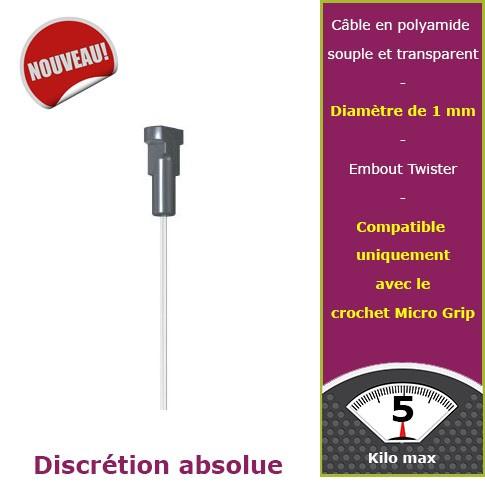 150 cm micro perlon embout Twister