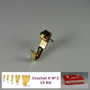 Crochet X N°2 jusqu'à 15 kg : Boite de 10