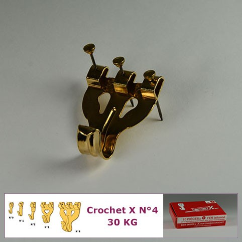 N°4 up to 30 kg : Box of 10 Hooks x Classic