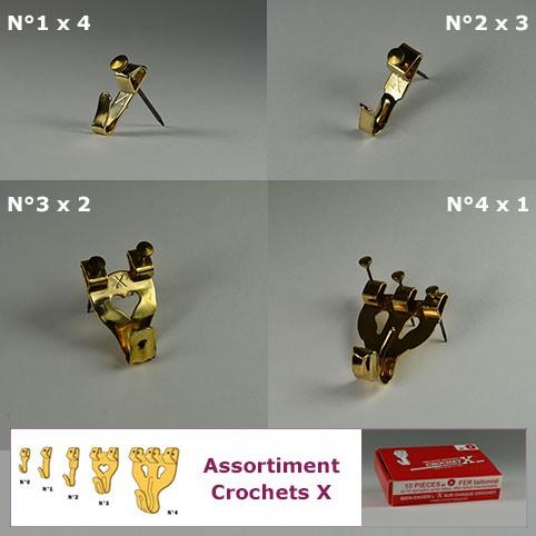 Klassisches X-Haken-Sortiment