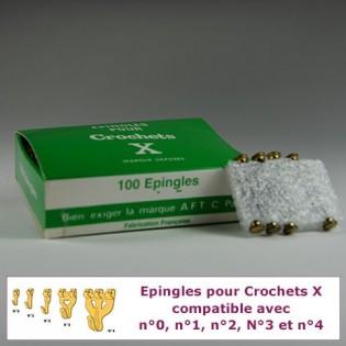 Hook X pins: box of 100