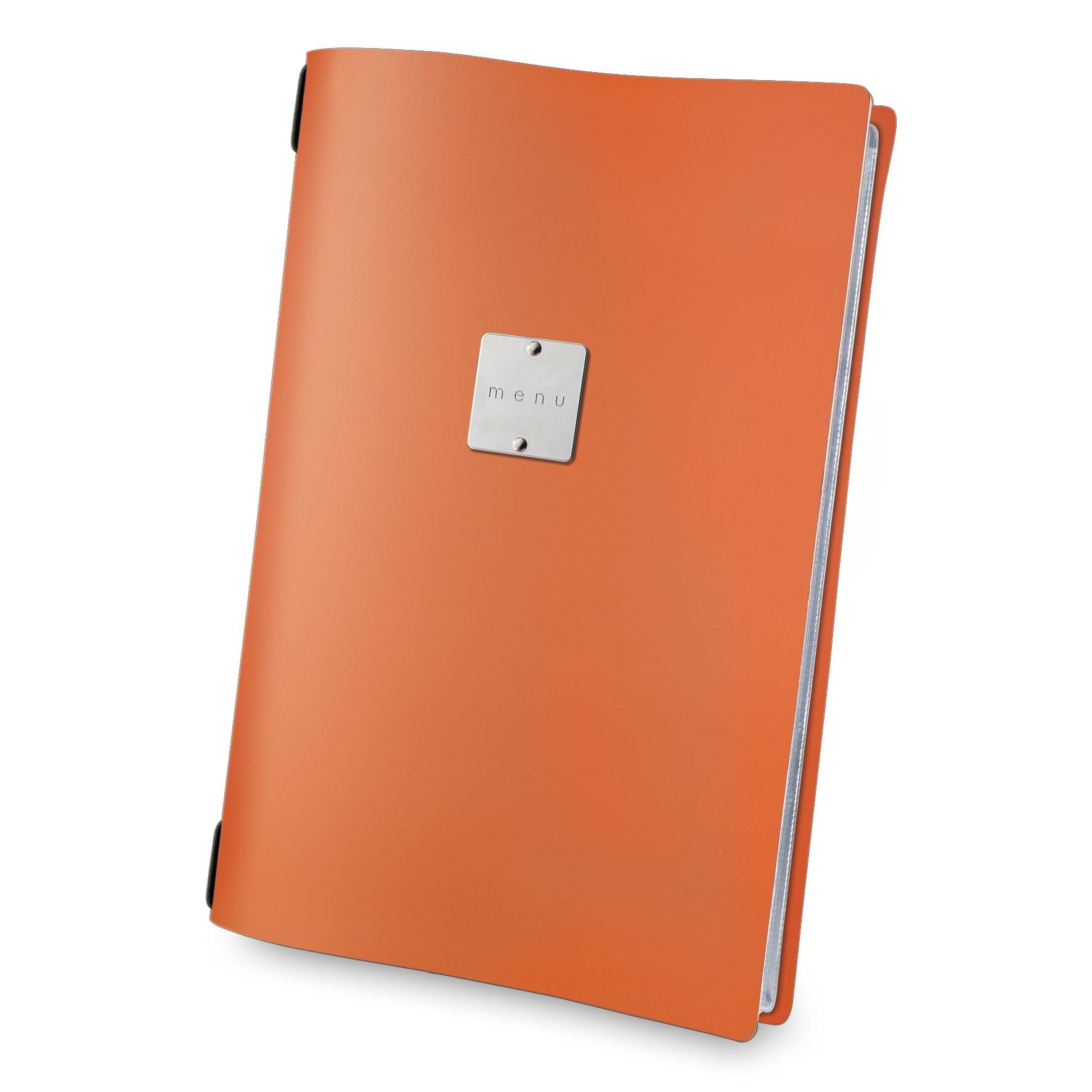 Fashion menu cover orange