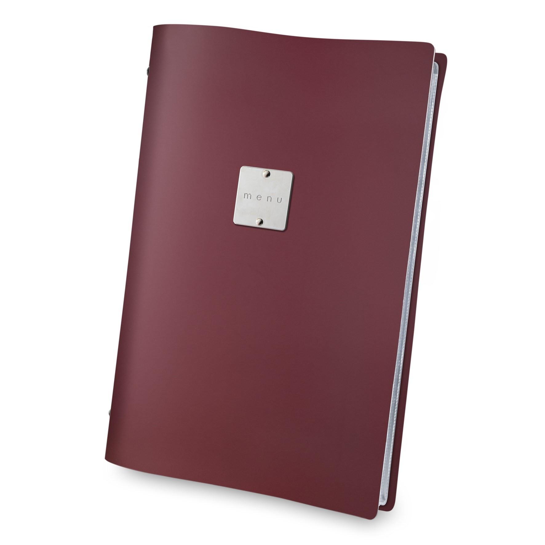 Fashion menu cover burgundy