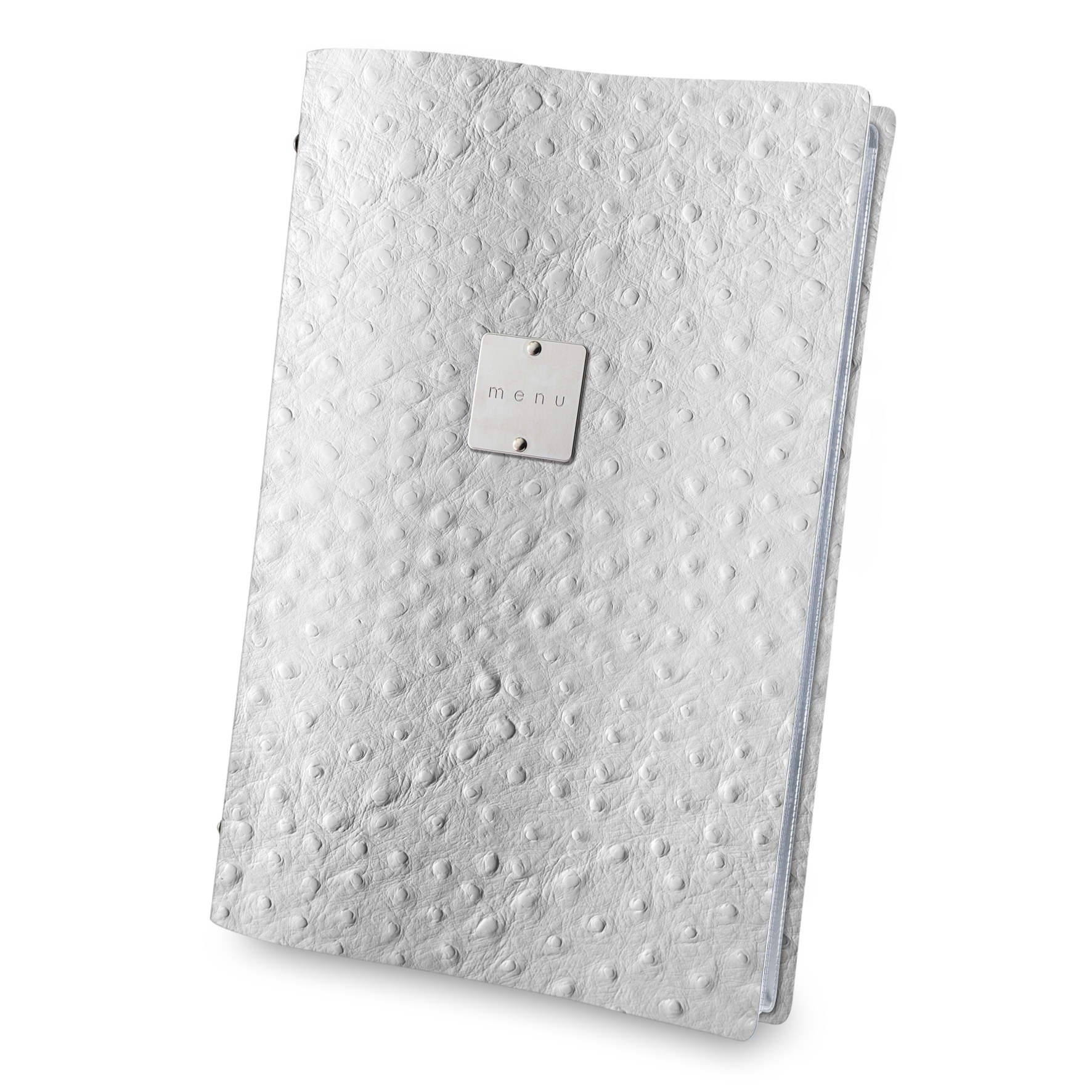 Fashion Ostrich menu cover white