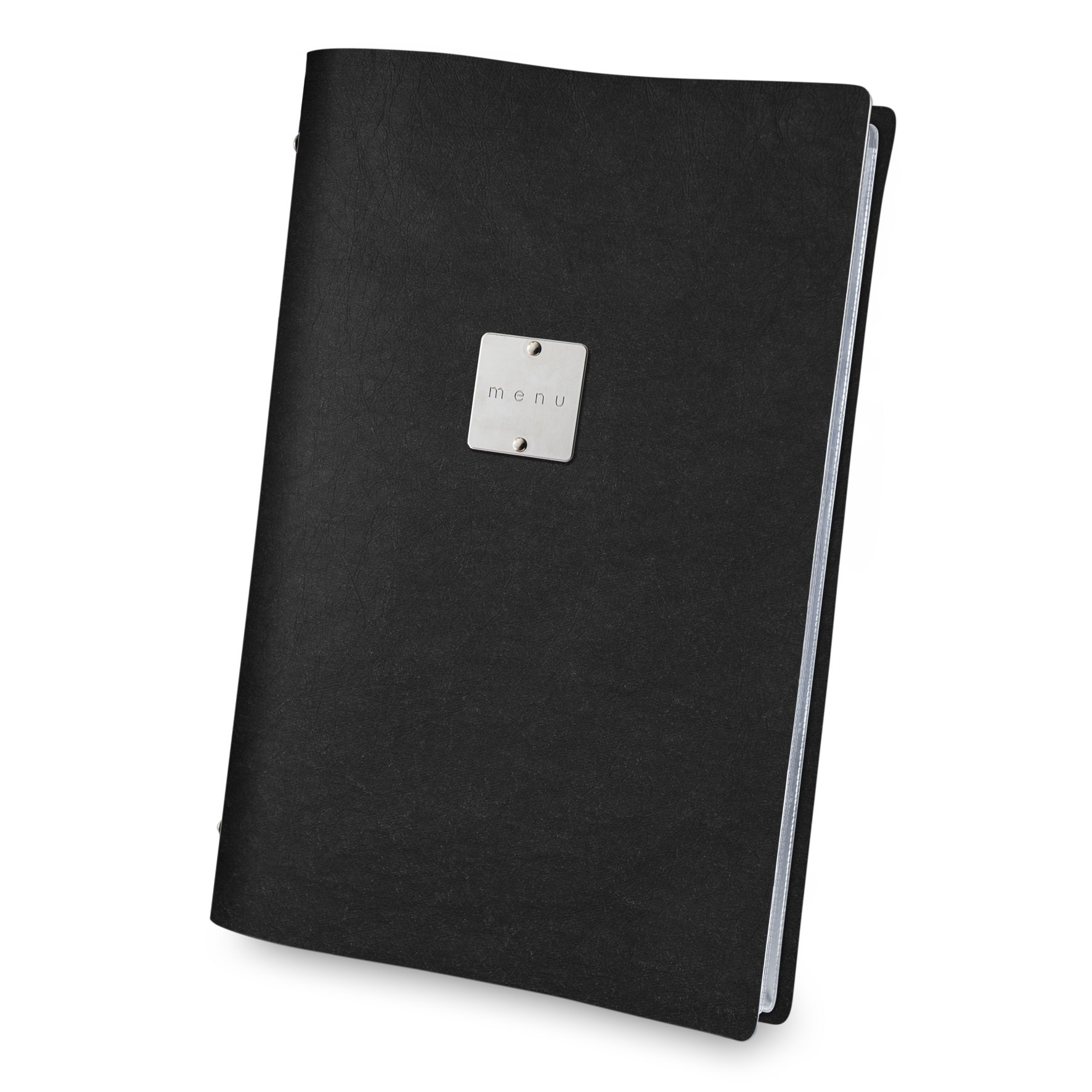 Ecological menu cover black