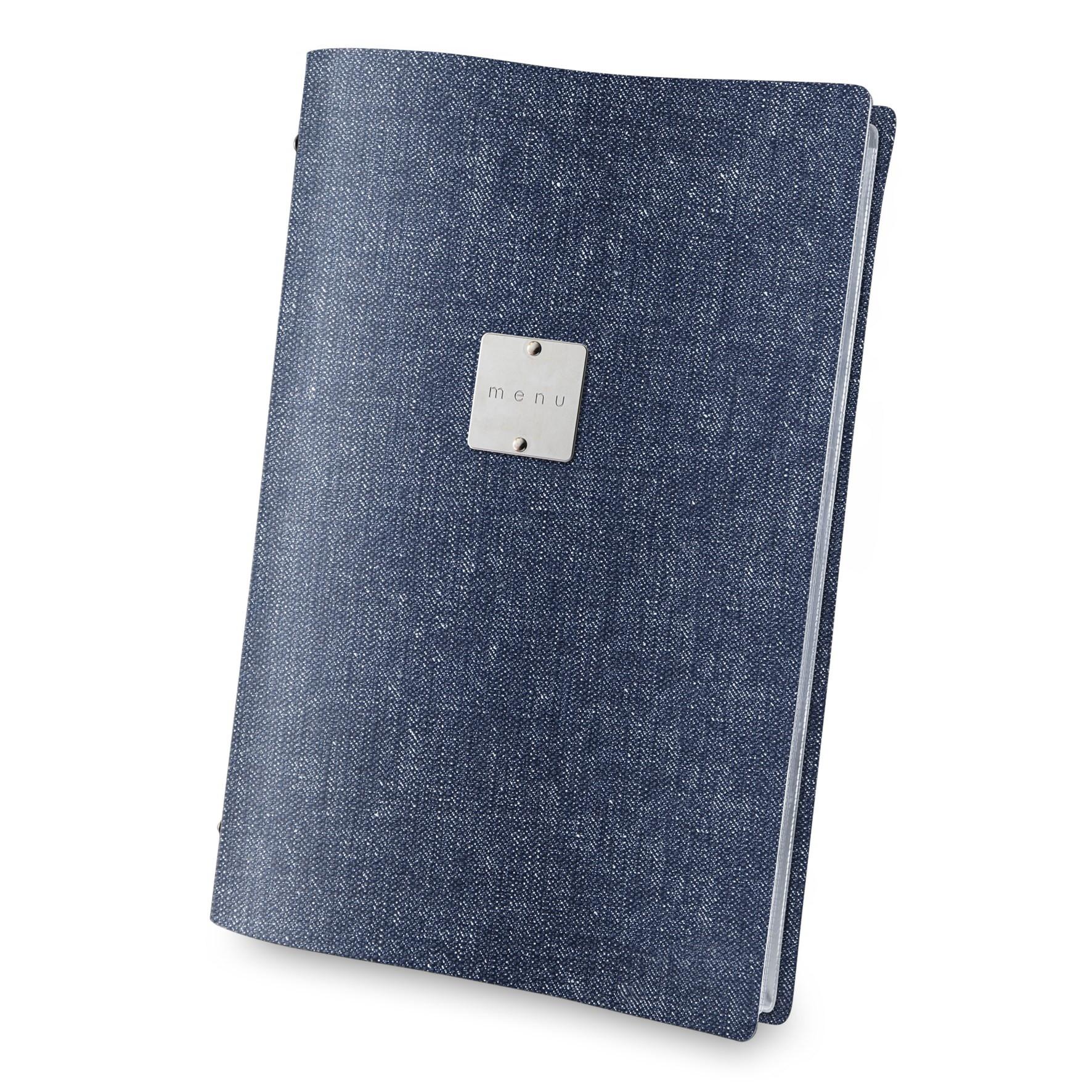 Protège-menu PVC aspect jeans
